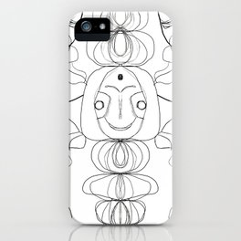 Only The Ghouls Come Out At Night Line Art iPhone Case