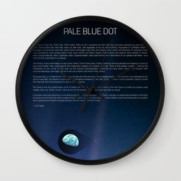 Pale Blue Dot — Voyager 1 (2020 revision), quote Wall Clock