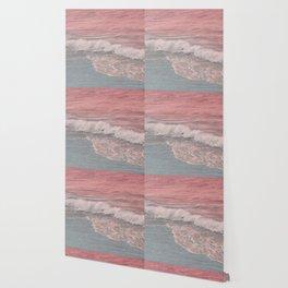 Pink Waves Beach Wallpaper