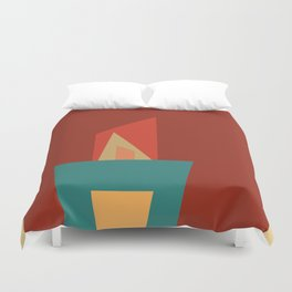 Little Boxes 2, Geometric Shapes Duvet Cover