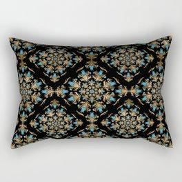Turkish tulip - Ottoman tile pattern 14 Rectangular Pillow