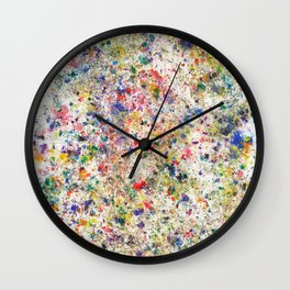 Abstract Artwork Colourful #7 Wall Clock