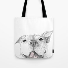 Whaddup :: A Pit Bull Smile Tote Bag