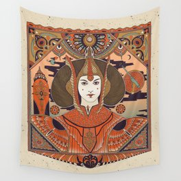 """""""Red Queen - Padme Amidala"""" by Cassidy Rae Marietta Wall Tapestry"""