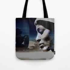 Talk to the lion Tote Bag
