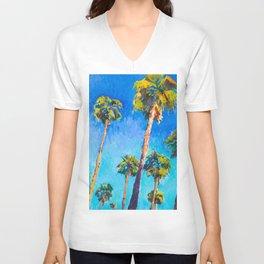 California Beach Palm Trees Unisex V-Neck