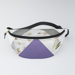 Ultra Violet Blossoms Arrows Fanny Pack