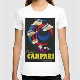 1948 Vintage Bitter Campari Aperitif Lithograph Advertisement Poster T-shirt