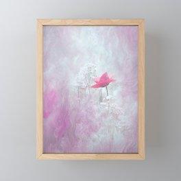 Pink Flower Blossom Nature Design Framed Mini Art Print