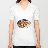 copper V-neck T-shirts featuring Copper utensils by LoRo  Art & Pictures