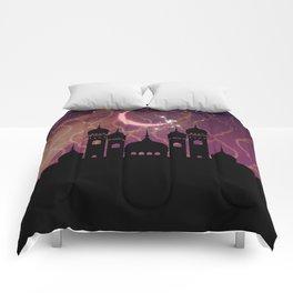 Purple & Gold Arabian Nights Half Moon Comforters