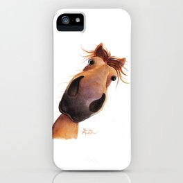 Happy Horse ' MAD MAX ' by Shirley MacArthur iPhone Case