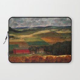 Classical Masterpiece 'Wisconsin Landscape II' by John Steuart Curry Laptop Sleeve