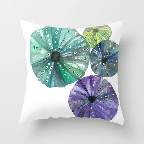 Hawaiian Sea No. 2 Sea Urchins Throw Pillow
