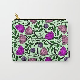 Flower pattern pink Carry-All Pouch