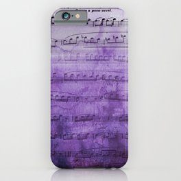 Soft Purple Music iPhone Case