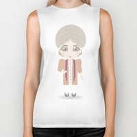 golden girls Biker Tanks featuring Girls in their Golden Years - Dorothy by Ricky Kwong