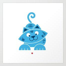 Kitty vs Laser Pointer Art Print