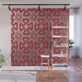 Christmas wrap pattern Wall Mural