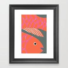 Good Luck Fish Framed Art Print
