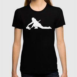 Curling Gift Female Curler Silhouette Curling Stone T-shirt