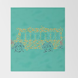 School of Fish Throw Blanket