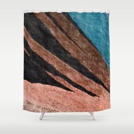 Dark Grace [2]: an abstract watercolor by Alyssa Hamilton Art Shower Curtain