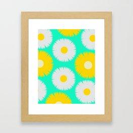 Chamomile and dandelion Framed Art Print