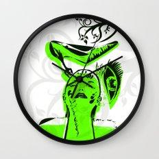 abstract woman Wall Clock