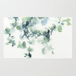 fresh green leaves Rug