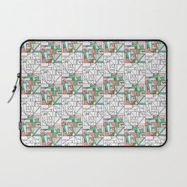 Geometric Monochrome & Coloured Square Surface Pattern Design Laptop Sleeve