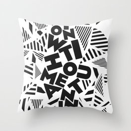 Action Without Meaning Throw Pillow