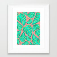 palms Framed Art Prints featuring Palms by Anika Kirk