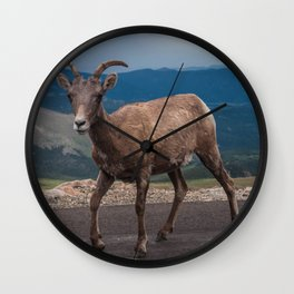 Colorado Goat Wall Clock