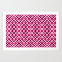 morrocan Art Prints featuring Morrocan Manor in Pink by Elizabeth Rodriguez Caldwell
