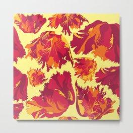 firy tulips pattern Metal Print