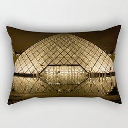louvre glass pyramid paris pyramid Rectangular Pillow