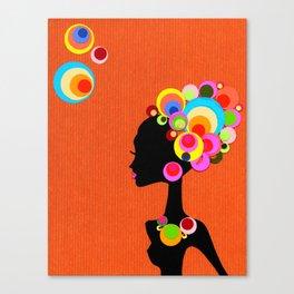 Big, Bright, Bold HAIR! Canvas Print