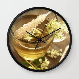 Elder Tea Still life for kitchen Wall Clock