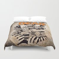 the walking dead Duvet Covers featuring THE WALKING DEAD - SIEGE by Zorio