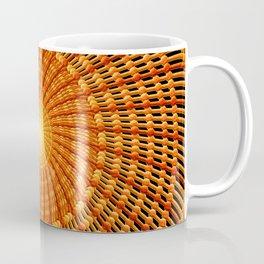 Amber Vortex Mandala Coffee Mug
