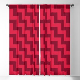 Crimson Red and Burgundy Red Steps LTR Blackout Curtain