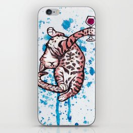 Drunk Kitty iPhone Skin