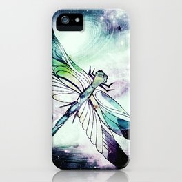 space dragonfly iPhone Case
