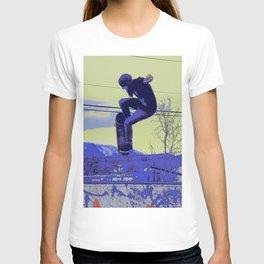 Getting Air - Skateboarder T-shirt