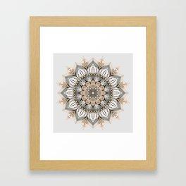 Sunset Mandala Framed Art Print