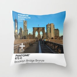 Pantone Brooklyn Bridge Bronze Throw Pillow
