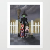 coven Art Prints featuring Coven by Rustic robin designs