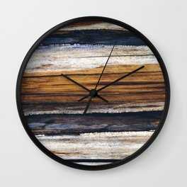 Scars on Cedar Wall Clock