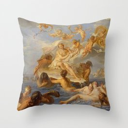 Noel-Nicolas Coypel - Birth of Venus Throw Pillow
